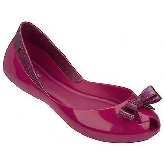 Melissa Shoes Kids Queen Ballet Pumps, Pink Glitter