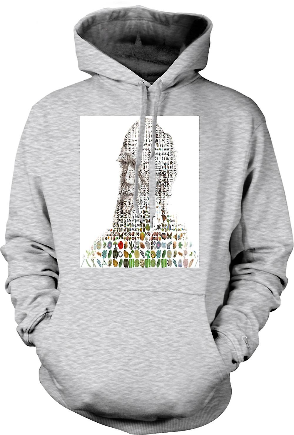Mens Hoodie - Darwin Evolution - Cool Design