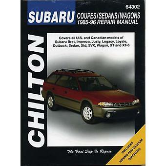Subaru Impreza - Legacy - Justy - XT - SVX - Brat and 1.6 - 1.8 L-ser
