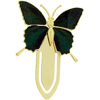 The Olivia Collection Goldtone Black & White Butterfly Bookmark SC1227