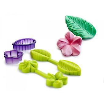Ibili Mold 3D Flower + Leaf + Cutter (Kitchen , Bakery , Cookware , Sets , Utensils)