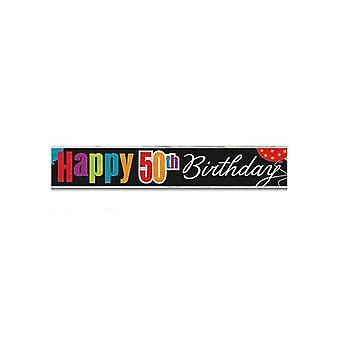 Cheer urodziny 50 urodziny folia Banner