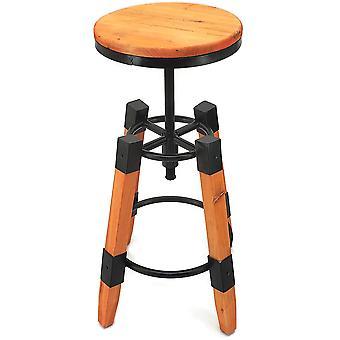 Wyland Rustic Contemporary Wood/Steel Barstool