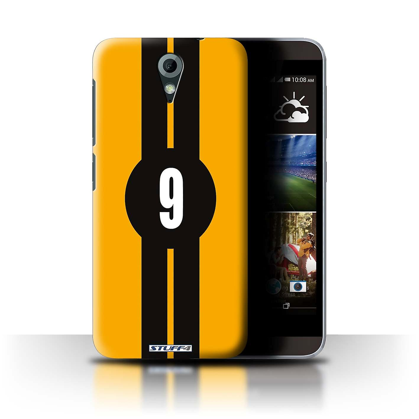 STUFF4 Case/Cover for HTC Desire 820 Mini/Ford/Yellow/Racing Car Stripes
