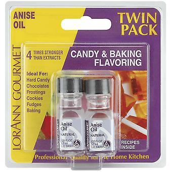 Candy & Baking Flavoring .125 Ounce Bottle 2 Pkg Anise Oil Flavor 100