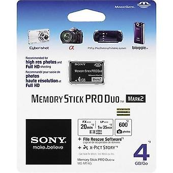 MemoryStick® PRO Duo card 4 GB Sony Pro Duo