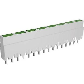 LED linear array 8x Green (L x W x H) 40.8 x 3.7 x 9 mm Signal C