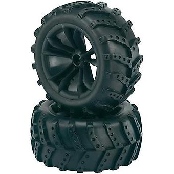 Reely 1:10 Monster truck Wheels Extreme 5-double spoke Black 2 pc(s)