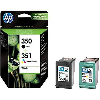 HP Ink 350, 351 Original Set Black, Cyan, Magenta, Yellow SD412EE