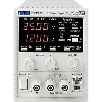 Bench PSU (adjustable voltage) Aim TTi CPX400SA 0 - 60 Vdc 0 - 20 A 420 W No. of outputs 1 x