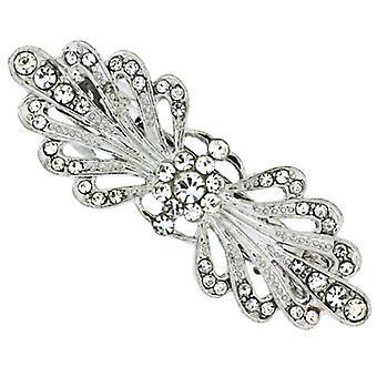 Bridal hår tillbehör Swarovski kristall och viktorianska Bow Hair hårspänne