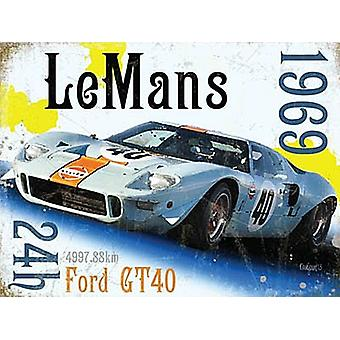 Le Mans 1969 small metal sign   (og 2015)