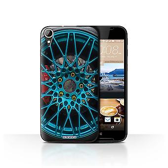 STUFF4 Case/Cover for HTC Desire 830/Blue/Red/Alloy Wheels