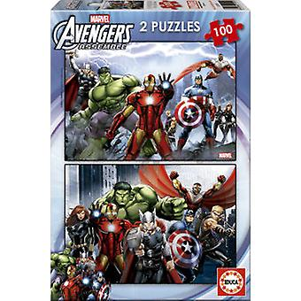 Marvel 2 X 100 Avengers (Toys , Boardgames , Puzzles)