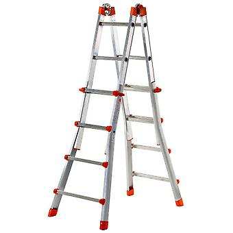 Gierre Aluminum Telescoping ladder Acal100 Peppina (4 + 4 Steps)