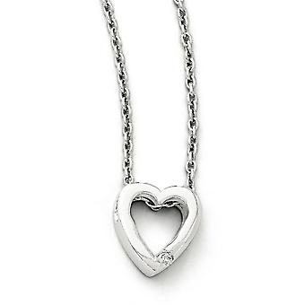White Ice .02ct Diamond Heart Necklace -.02 dwt - 18 Inch