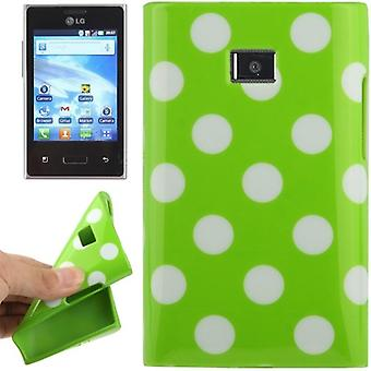 Protective case TPU points of case for mobile LG Optimus L3 / E400
