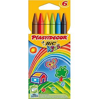 Bic Plastidecor 6 Colour Plastidecor