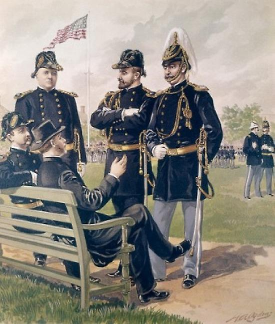 Staff & Line Officers Chaplain 1888 Ogden  Henry Alexander Poster Print