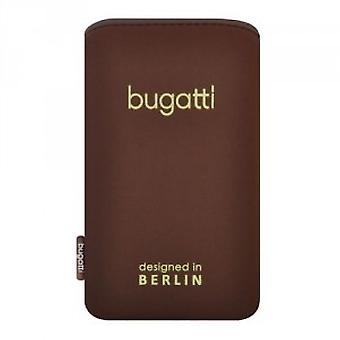 Bugatti Wood slim cover pouch case universal size M - iPhone Samsung