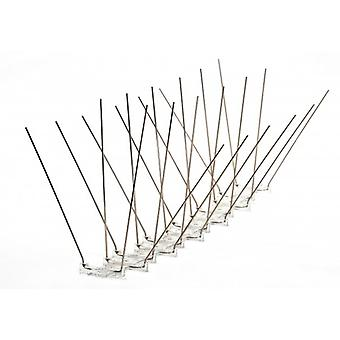 Propoint Wide Stainless Steel Seagull Spikes For Ledges; Ridges And Roofs; 10 Metre Set