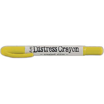 Tim Holtz Distress Crayons-Crushed Olive TDB-52012