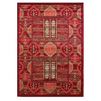 Red Aztec Traditional Lounge Rugs