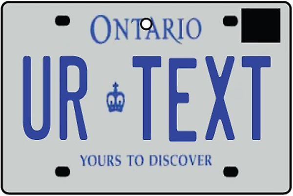 Personalized Ontario Numberplate Car Air Freshener