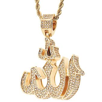 Iced out bling religion trailer - 3D ALLAH SYMBOL gold