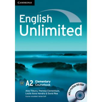 English Unlimited Elementary Coursebook with E-Portfolio (DVD-ROM) by Tilbury Alex Clementson Theresa Hendra Leslie Rea David