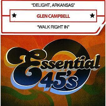 Glen Campbell - Delight Arkansas/Walk bezpośrednio w USA [CD] importu