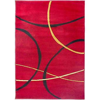 Classic Red Geometric Rug - Element