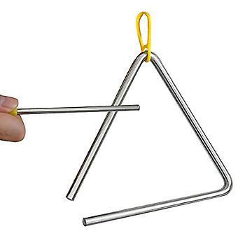 Instrumento de percusión TRIXES Musical triángulo acero escuela niños con batidor
