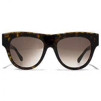 Stella McCartney Falabella Bold Falabella Brow Detail Sunglasses In Havana
