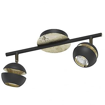 Eglo Nocito Twin Ceiling Spot Black Gold