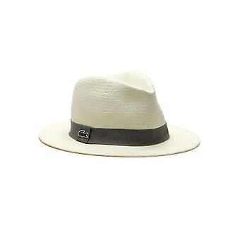 Lacoste Lacoste Woven Straw Fedora Hat