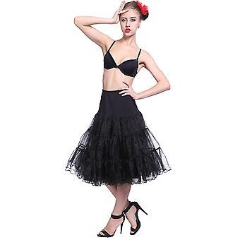 Boolavard 50s Vintage Rockabilly underkjol kjol, 26-tums längd netto underkjol