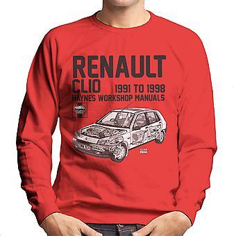 Haynes eigenaren Workshop handmatige Renault Clio Black mannen Sweatshirt