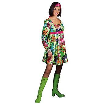 Kvinder kostumer kvinder Magic fred hippie kjole satin