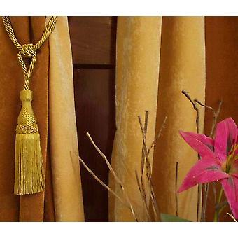 Pair - Golden Decorative handmade Tiebacks / Tassel / Curtain Holdback
