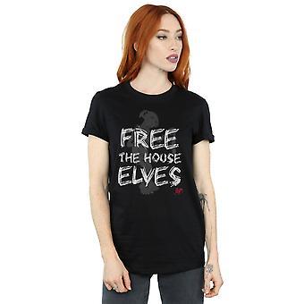 Harry Potter Women's Dobby Free The House Elves Boyfriend Fit T-Shirt