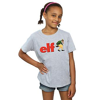 Elf Girls Crouching Logo T-Shirt