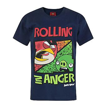 Angry Birds Childrens/Boys Official Rolling In Anger Short Sleeved T-Shirt