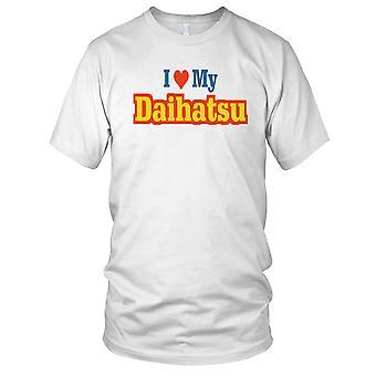 Ik hou van mijn Daihatsu auto Mens T Shirt