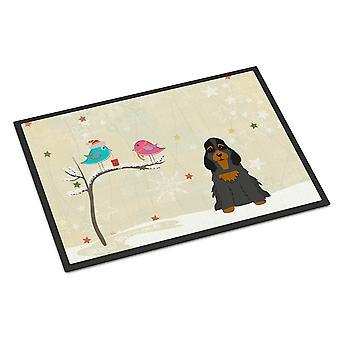 Weihnachtsgeschenke zwischen Freunden Cocker Spaniel Black Tan Indoor oder Outdoor-Ma