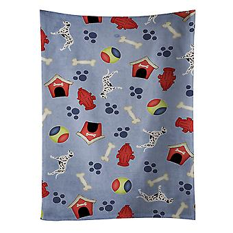Carolines Treasures  BB3883KTWL Dalmatian Dog House Collection Kitchen Towel