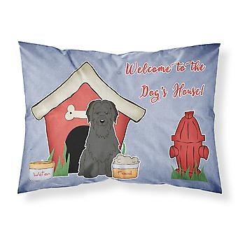 Dog House Collection Briard Black Fabric Standard Pillowcase