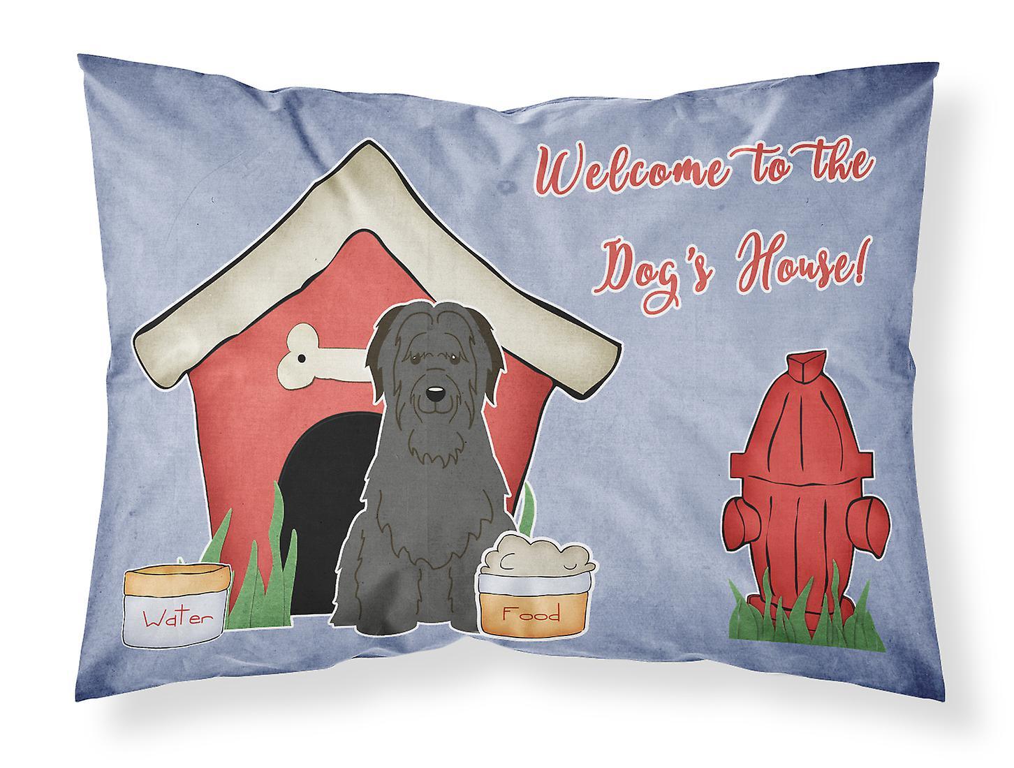 Briard Taie Standard D'oreiller House Dog Collection Noir Tissu Rj3L45A
