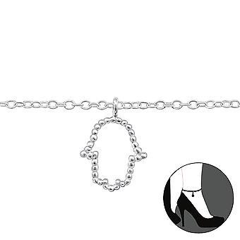 Hamsa - 925 Sterling Silver Anklets - W31579x
