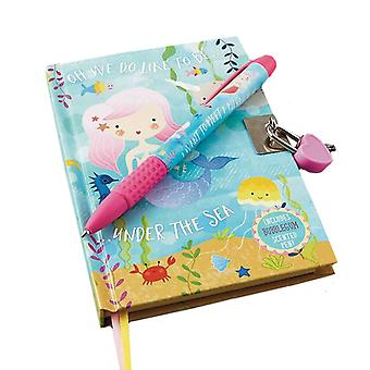 Mermaids sparkly lockable secret diary